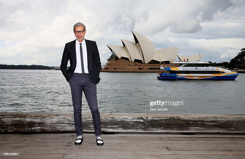<a gi-track='captionPersonalityLinkClicked' href=/galleries/search?phrase=Jeff+Goldblum&family=editorial&specificpeople=204160 ng-click='$event.stopPropagation()'>Jeff Goldblum</a> poses during an 'Independence Day Resurgence' photo call outside the Park Hyatt on June 1, 2016 in Sydney, Australia.