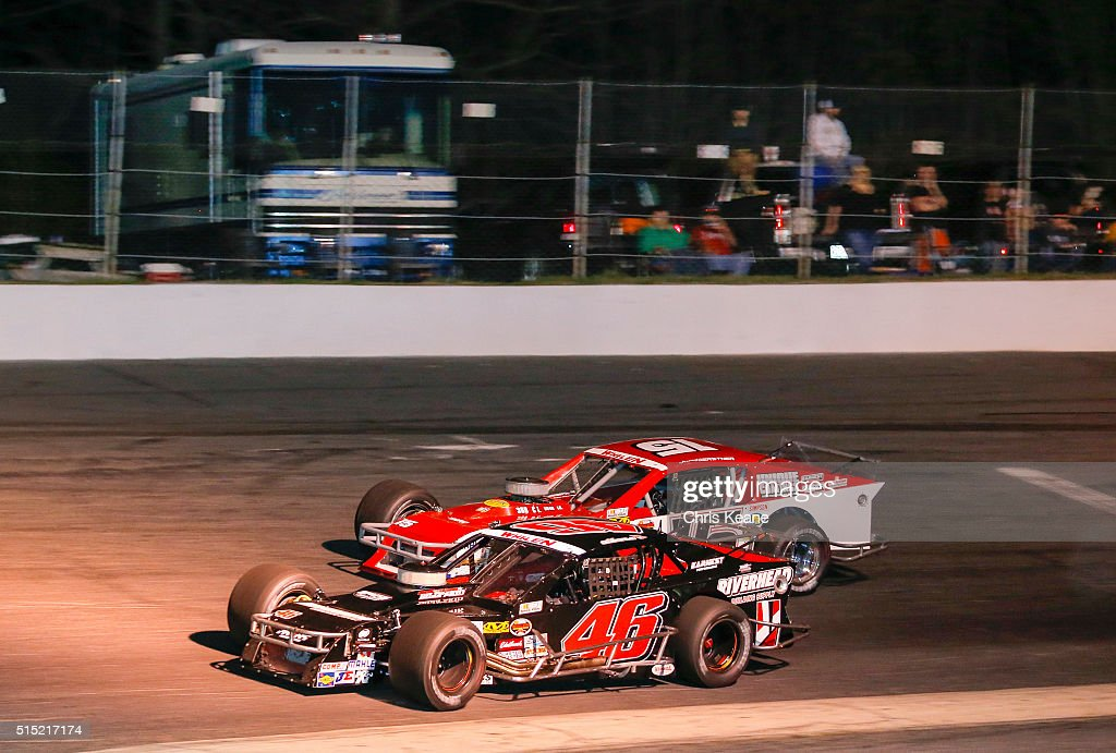 Jeff Goodale Driver Of The #46 Riverbed Building Supply Chevrolet During  The NASCAR Whelen Southern