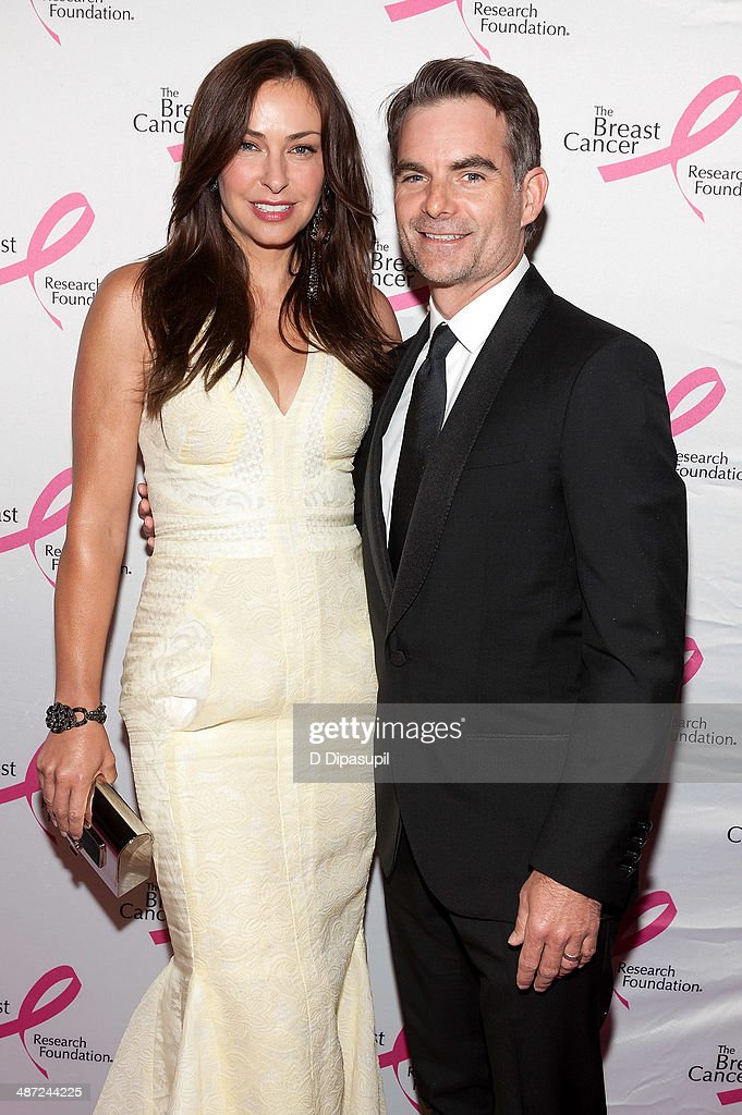 Jeff Gordon (R) and wife Ingrid Vandebosch attend The Breast Cancer Research Foundation 2014 Hot Pink Party at The Waldorf=Astoria on April 28, 2014 in New York City.
