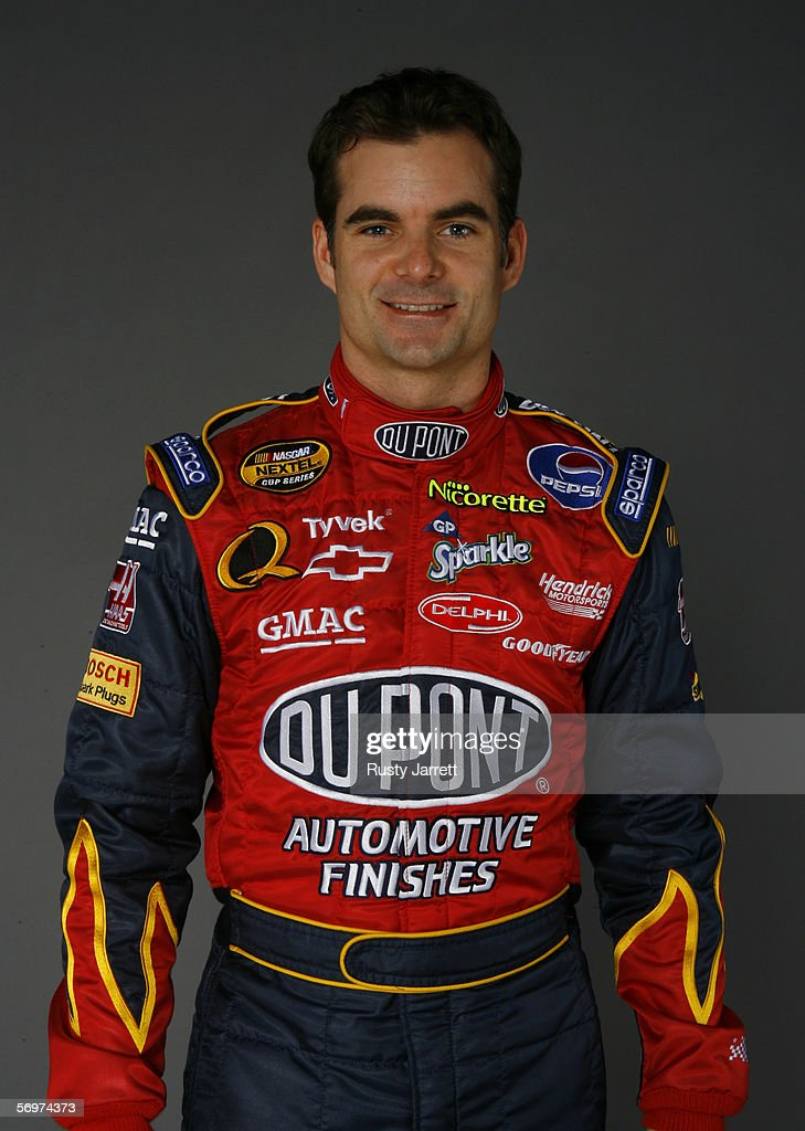 <a gi-track='captionPersonalityLinkClicked' href=/galleries/search?phrase=Jeff+Gordon&family=editorial&specificpeople=171491 ng-click='$event.stopPropagation()'>Jeff Gordon</a>, driver of #24 Dupont Chevrolet at NASCAR media day Daytona International Speedway on February 9, 2006 in Daytona, Florida.