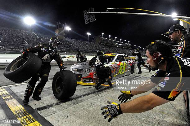 Jeff Gordon driver of the AXALTA Chevrolet pits during the NASCAR Sprint Cup Series Ford EcoBoost 400 at HomesteadMiami Speedway on November 22 2015...