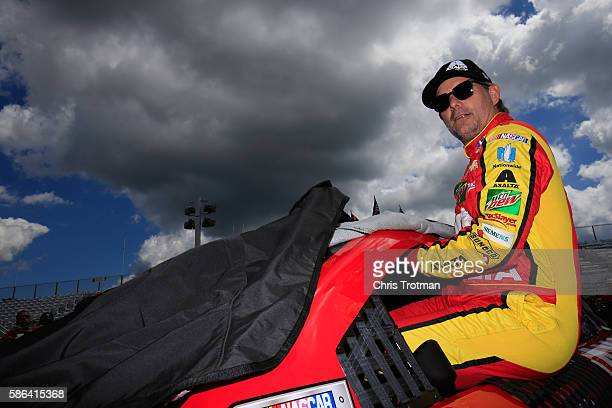 Jeff Gordon driver of the Axalta Chevrolet prepares to drive during qualifying for the NASCAR Sprint Cup Series CheezIt 355 at Watkins Glen...