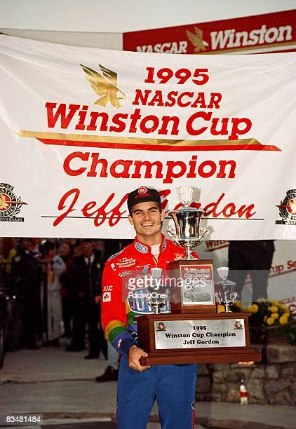 Jeff Gordon driver of the Dupont Chevrolet won the first of his four national titles in 1995 and became the secondyoungest to do so on November 12...
