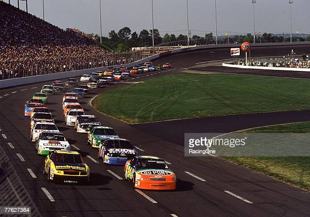 Jeff Gordon gets his first NASCAR Cup series win in 1994 at the CocaCola 600 at Lowe's Motor Speedway on May 29 1994 in Concord North Carolina