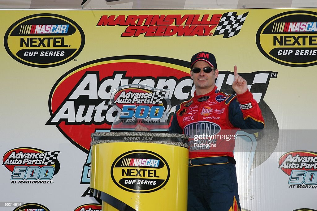 Jeff Gordon won the Advance Auto Parts 500, his first visit to Martinsville since the Hendrick Motorsports airplane tragedy the previous October.