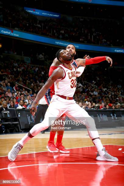Jeff Green of the Cleveland Cavaliers boxes out against the Washington Wizards on November 3 2017 at Capital One Arena in Washington DC NOTE TO USER...