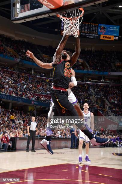 Jeff Green of the Cleveland Cavaliers dunks against the Sacramento Kings on December 6 2017 at Quicken Loans Arena in Cleveland Ohio NOTE TO USER...