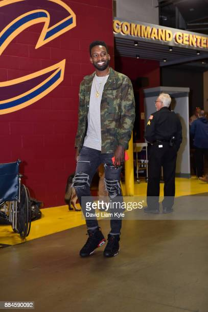 Jeff Green of the Cleveland Cavaliers enters the arena before the game against the Memphis Grizzlies on December 2 2017 at Quicken Loans Arena in...