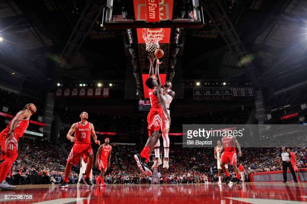 Jeff Green of the Cleveland Cavaliers goes to the basket against the Houston Rockets on NOVEMBER 9 2017 at the Toyota Center in Houston Texas NOTE TO...