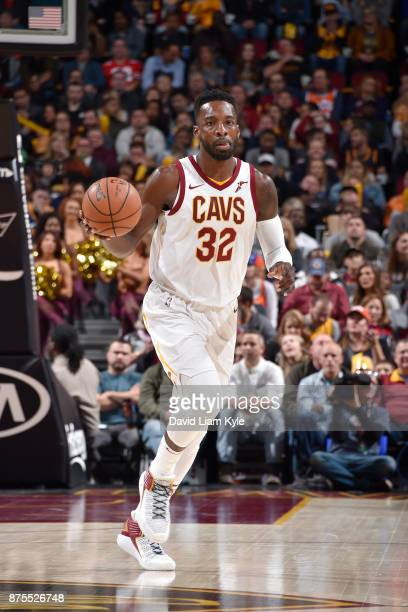 Jeff Green of the Cleveland Cavaliers handles the ball against the LA Clippers on November 17 2017 at Quicken Loans Arena in Cleveland Ohio NOTE TO...