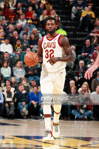 Jeff Green of the Cleveland Cavaliers handles the ball against the Indiana Pacers on December 8 2017 at Bankers Life Fieldhouse in Indianapolis...