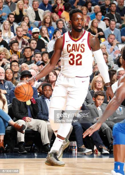 Jeff Green of the Cleveland Cavaliers handles the ball versus the Dallas Mavericks on Novemeber 11 2017 at the American Airlines Center in Dallas...