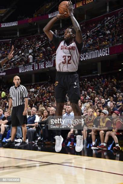 Jeff Green of the Cleveland Cavaliers shoots the ball at the open practice on October 2 2017 at Quicken Loans Arena in Cleveland Ohio NOTE TO USER...