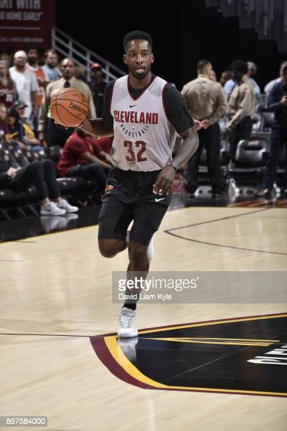 Jeff Green of the Cleveland Cavaliers warms up before the open practice on October 2 2017 at Quicken Loans Arena in Cleveland Ohio NOTE TO USER User...
