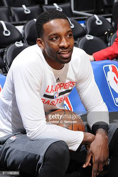 Jeff Green of the Los Angeles Clippers before the game against the Golden State Warriors on February 20 2016 at STAPLES Center in Los Angeles...
