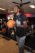Jeff Green of the Los Angeles Clippers participates in the 16th annual Charity BasketBowl Challenge at Keystone Lanes on February 27 2016 in Norwalk...