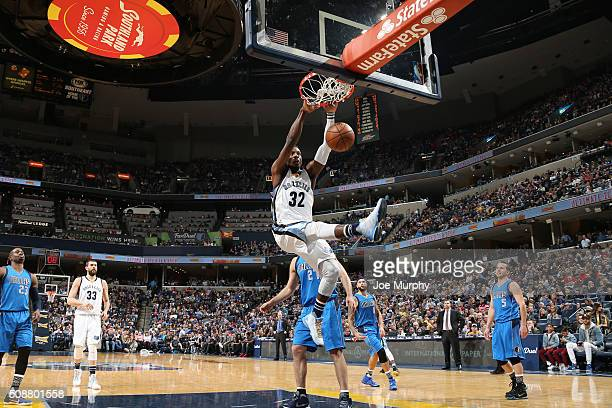 Jeff Green of the Memphis Grizzlies dunks against the Dallas Mavericks on February 6 2016 at FedExForum in Memphis Tennessee NOTE TO USER User...