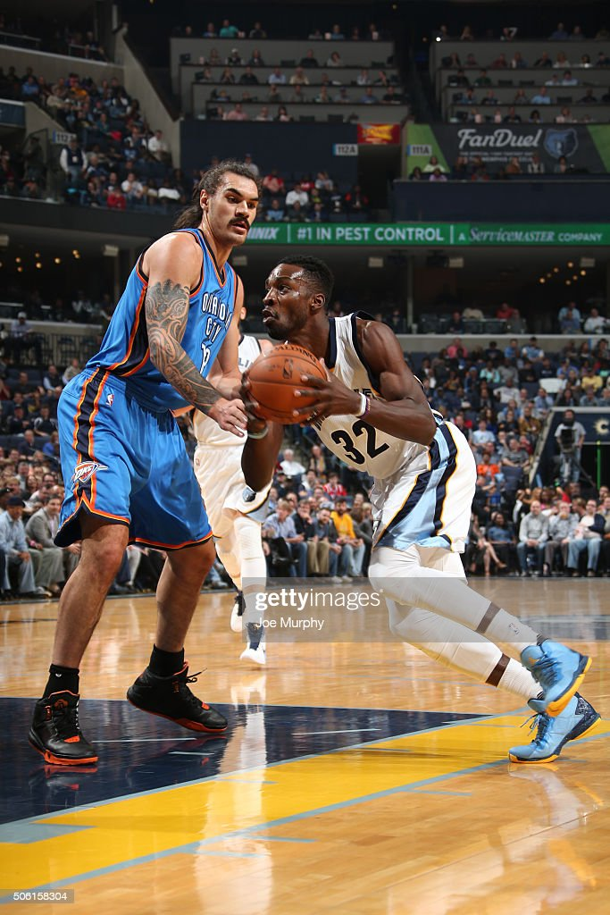 <a gi-track='captionPersonalityLinkClicked' href=/galleries/search?phrase=Jeff+Green+-+Basket&family=editorial&specificpeople=4218745 ng-click='$event.stopPropagation()'>Jeff Green</a> #32 of the Memphis Grizzlies handles the ball against the Oklahoma City Thunderduring the game on December 8, 2015 at FedExForum in Memphis, Tennessee.
