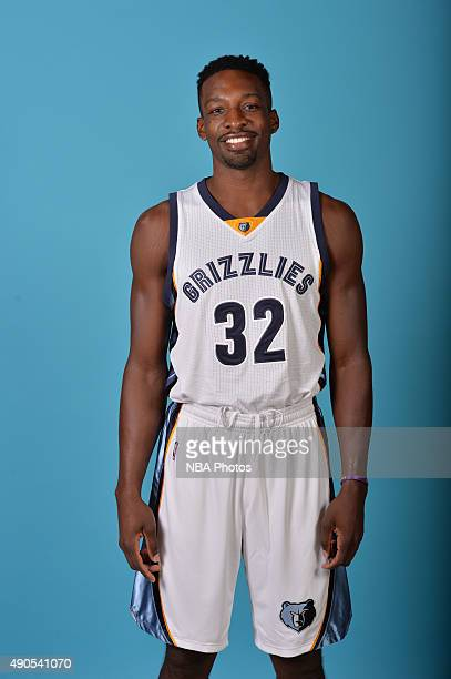 Jeff Green of the Memphis Grizzlies poses for a portrait during their 2015 Media Day on September 28 2015 at FedEx Forum in Memphis Tennessee NOTE TO...