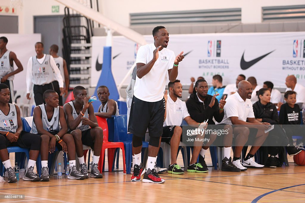 <a gi-track='captionPersonalityLinkClicked' href=/galleries/search?phrase=Jeff+Green+-+Basket&family=editorial&specificpeople=4218745 ng-click='$event.stopPropagation()'>Jeff Green</a> of the Memphis Grizzlies scouts the scrimmage during the Basketball Without Boarders program on July 28, 2015 at the American International School of Johannesburg in Johannesburg, South Africa.