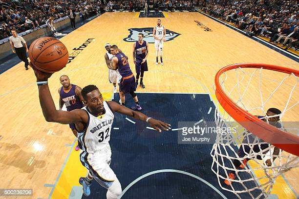 Jeff Green of the Memphis Grizzlies shoots the ball during the game against the Phoenix Suns on December 6 2015 at FedExForum in Memphis Tennessee...