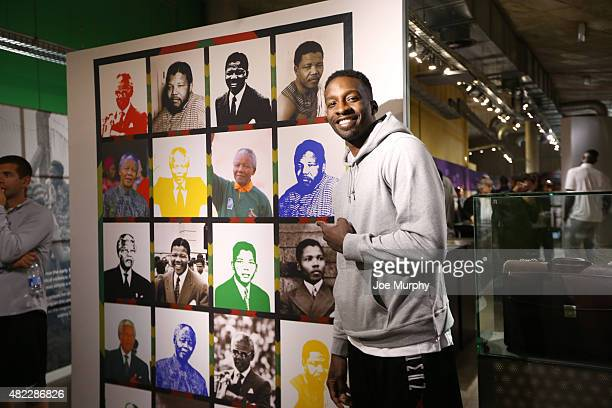 Jeff Green of the Memphis Grizzlies takes in the exhibit during the Basketball Without Boarders program on July 28 2015 at the Apartheid Museum in...