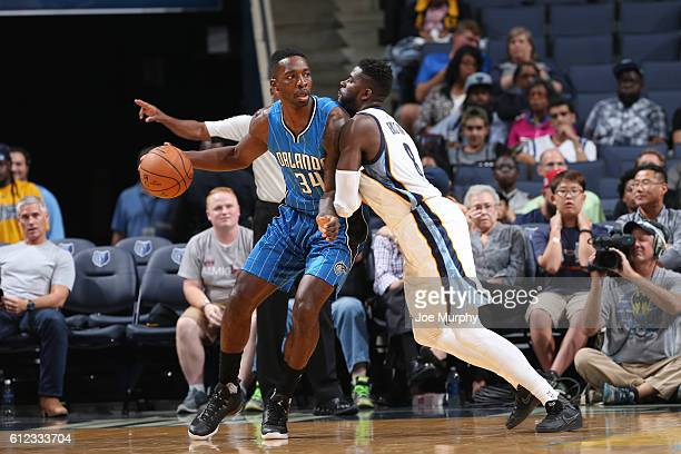 Jeff Green of the Orlando Magic handles the ball against the Memphis Grizzlies during a preseason game on October 3 2016 at FedExForum in Memphis...