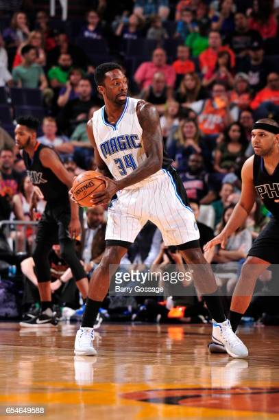 Jeff Green of the Orlando Magic handles the ball against the Phoenix Suns on March 17 2017 at Talking Stick Resort Arena in Phoenix Arizona NOTE TO...