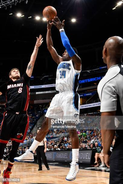 Jeff Green of the Orlando Magic shoots the ball against the Miami Heat on March 3 2017 at the Amway Center in Orlando Florida NOTE TO USER User...