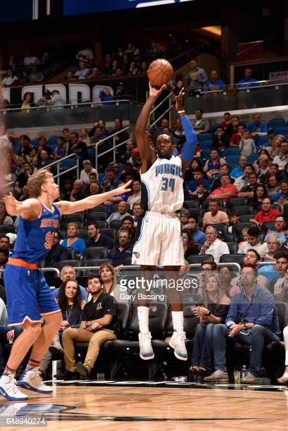 Jeff Green of the Orlando Magic shoots the ball against the New York Knicks during the game on March 6 2017 at Amway Center in Orlando Florida NOTE...