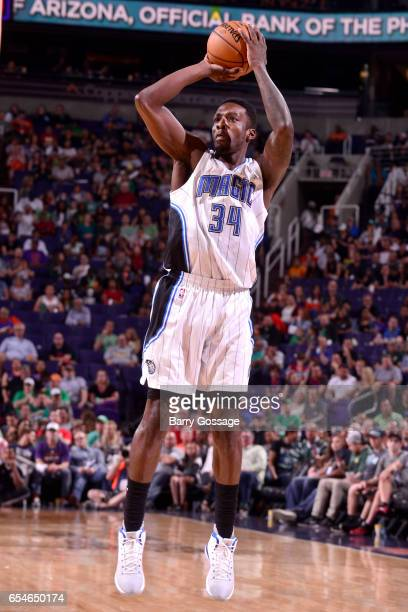 Jeff Green of the Orlando Magic shoots the ball against the Phoenix Suns on March 17 2017 at Talking Stick Resort Arena in Phoenix Arizona NOTE TO...