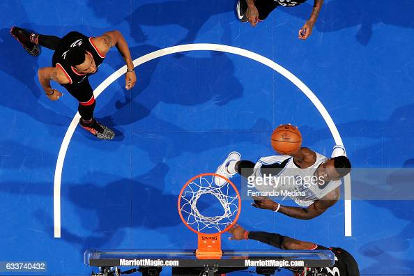 Jeff Green of the Orlando Magic shoots the ball during the game against the Toronto Raptors on February 3 2017 at Amway Center in Orlando Florida...