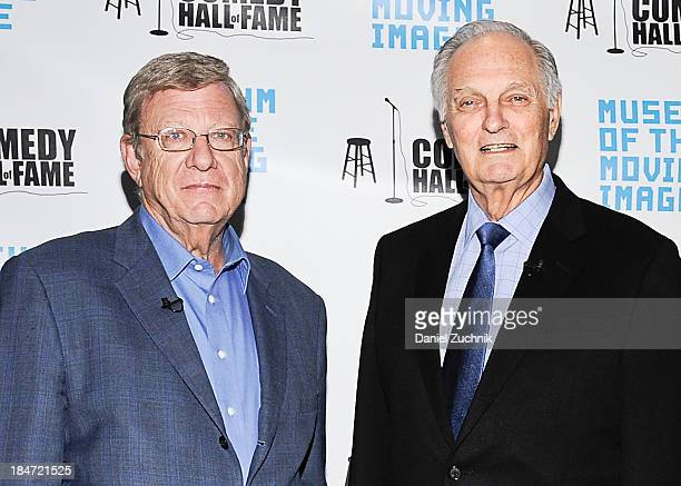 Jeff Greenfield and Alan Alda attend Iconic Characters Of Comedy Series 'MASH' at Museum of Moving Image on October 15 2013 in New York City