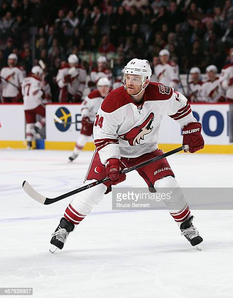 Jeff Halpern of the Phoenix Coyotes skates against the Montreal Canadiens at Bell Centre on December 17 2013 in Montreal Canada