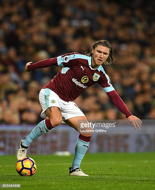 Jeff Handrick of Burnley in action during the Premier League match between West Bromwich Albion and Burnley at The Hawthorns on November 21 2016 in...