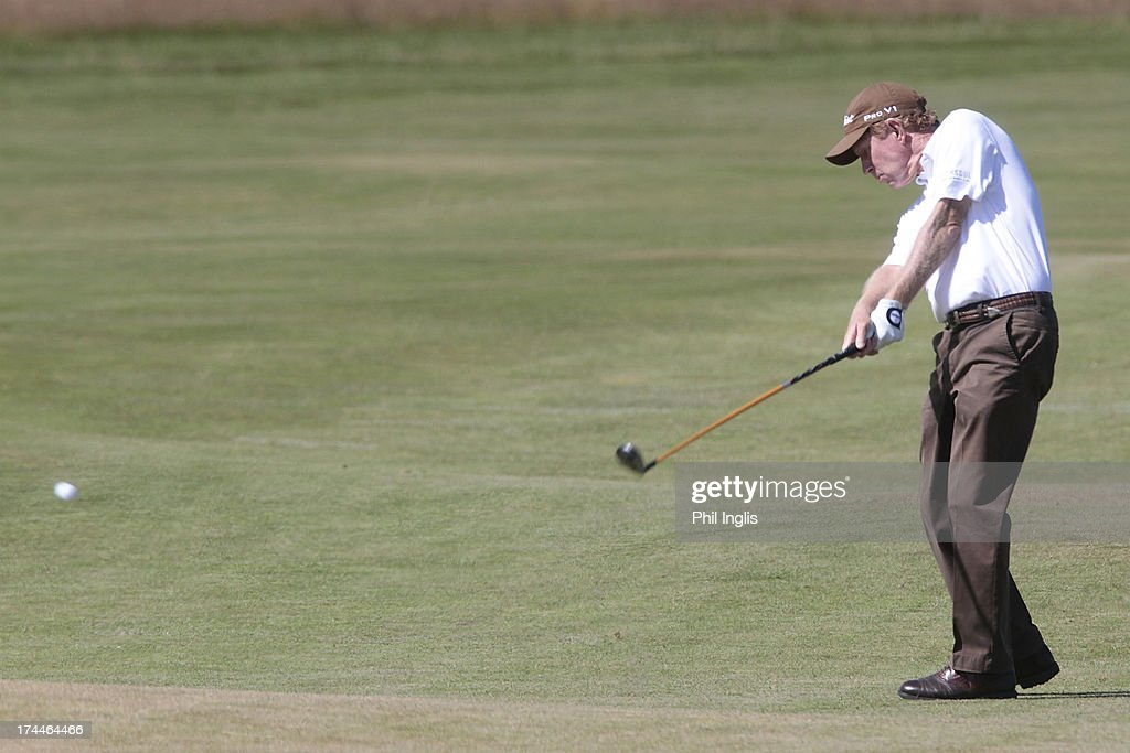 Jeff Hart of USA in action during the second round of The Senior Open Championship played at Royal Birkdale Golf Club on July 26, 2013 in Southport, United Kingdom.