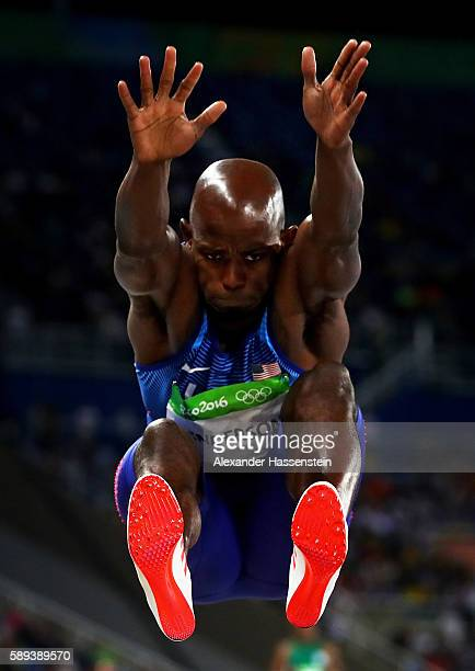 Jeff Henderson of the United States competes during the Men's Long Jump Final on Day 8 of the Rio 2016 Olympic Games at the Olympic Stadium on August...