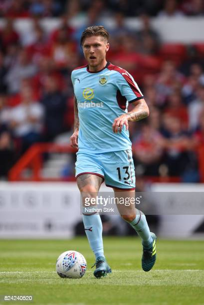 Jeff Hendrick of Burnley in action during the pre season friendly match between Nottingham Forest and Burnley at the City Ground on July 29 2017 in...