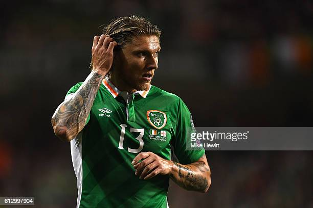 Jeff Hendrick of Ireland in action during the FIFA 2018 World Cup Group D Qualifier between Republic of Ireland Georgia at the Aviva Stadium on...