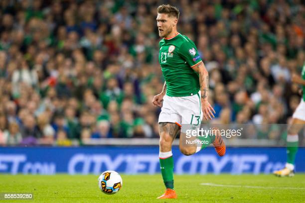 Jeff Hendrick of Ireland runs with the ball during the FIFA World Cup 2018 Qualifying Round Group D match between Republic of Ireland and Moldova at...