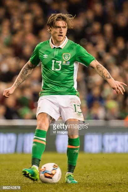 Jeff Hendrick of Irelandduring the friendly match between Ireland and Iceland on March 28 2017 at the Aviva stadium in Dublin Ireland