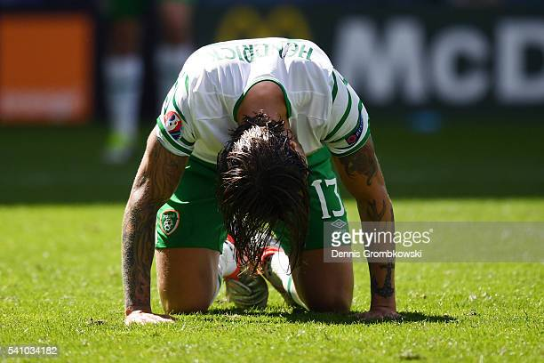 Jeff Hendrick of Republic of Ireland looks dejected during the UEFA EURO 2016 Group E match between Belgium and Republic of Ireland at Stade Matmut...