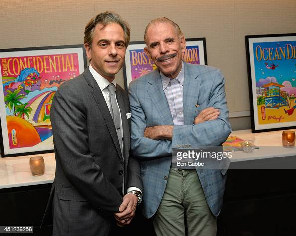 Jeff Hess and Peter Max attend Gotham Magazine Celebrates its Summer Issue with Peter Max and The Humane Society of the United States at Loews...