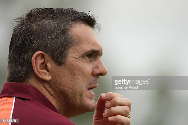 Jeff Hopkins of the Roar in thought during the WLeague 2009 Grand Final match between the Queensland Roar and Canberra United at Ballymore Stadium on...