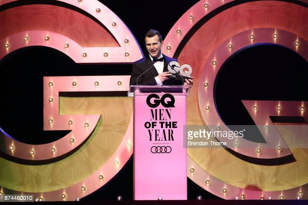 Jeff Horn accepts the award for Sporsman of the Year during the GQ Men Of The Year Awards Ceremony at The Star on November 15 2017 in Sydney Australia