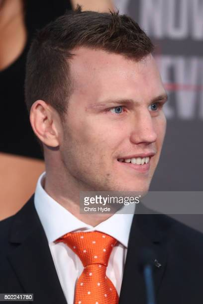 Jeff Horn during the official Pacquiao Vs Horn press conference for WBO World Welterweight Championship at Suncorp Stadium on June 28 2017 in...