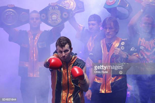 Jeff Horn of Australia walks out for his fight against Randall Bailey of the USA during their Welterweight bout on April 27 2016 in Brisbane Australia