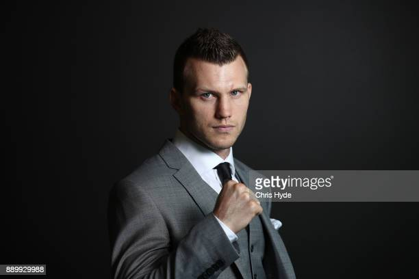Jeff Horn poses after a press conference ahead of his WBO World Welterweight Championship fight against Gary Corcoran on December 13 Fighters pose...