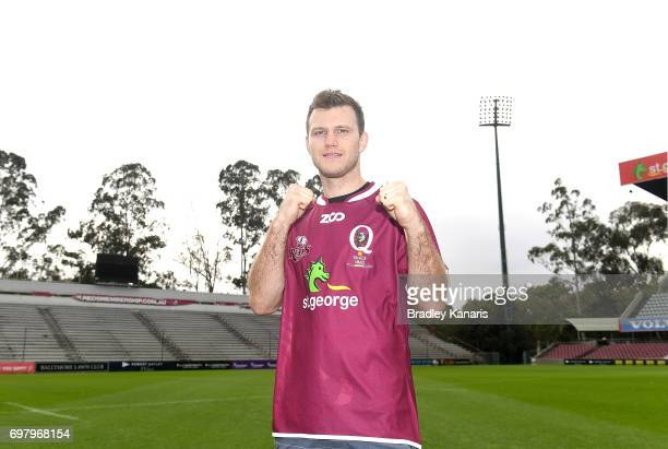 Jeff Horn poses for a photo during an Australian Wallabies media opportunity at Ballymore Stadium on June 20 2017 in Brisbane Australia