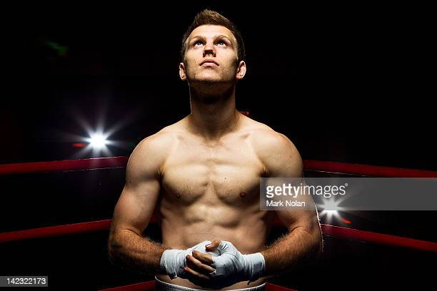 Jeff Horn poses poses during a portrait session at the 2012 Australian Olympic Games Boxing Team Announcement at the AIS on April 2 2012 in Canberra...